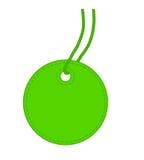 Étiquette verte. illustration stock