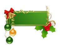Étiquette verte de Noël illustration de vecteur
