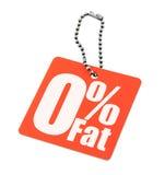 Étiquette zéro de graisse de pour cent Images stock
