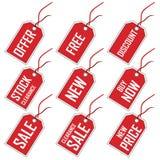 Étiquettes à vendre Images libres de droits