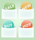 Étiquettes Images stock