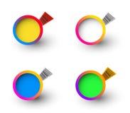 Étiquettes avec code barres Photographie stock libre de droits