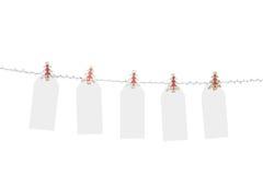 Étiquettes blanc de Noël Images stock