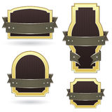 Étiquettes blanc de produit de brun et d'or Image libre de droits