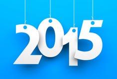 Étiquettes blanches avec 2015 Image stock