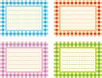 Étiquettes Checkered Photos libres de droits
