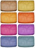Étiquettes colorées images libres de droits