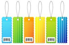 Étiquettes colorées Images stock