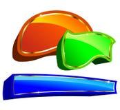 Étiquettes colorées illustration stock