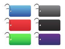 Étiquettes colorées - 2 - sur le blanc Photos stock