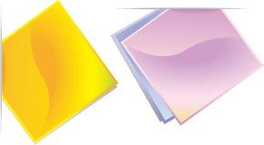 Étiquettes colorées abstraites, étiquettes Images libres de droits