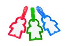 Étiquettes colorées de bagage Photographie stock libre de droits