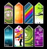 Étiquettes colorées de cadeau Photo stock