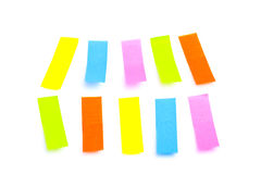 Étiquettes colorées de collant Photo libre de droits