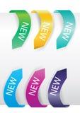 Étiquettes colorées de vente de flèche Images stock