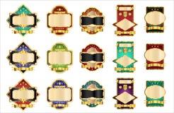 Étiquettes décoratives Photographie stock libre de droits