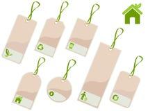 étiquettes d'écologie Images stock