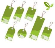 étiquettes d'écologie Photo stock