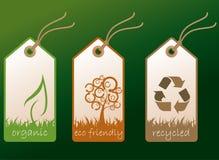Étiquettes d'écologie Photos stock