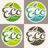 Étiquettes d'Eco Image stock