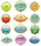 Étiquettes d'eco de couleur Image stock
