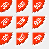 Étiquettes d'escompte Photos libres de droits