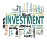 Étiquettes d'Investmen Photos stock