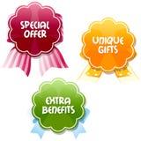 Étiquettes d'offre spéciale Photographie stock