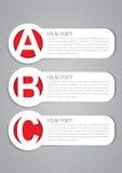 Étiquettes d'un vecteur d'options de B C Photos libres de droits