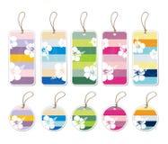 Étiquettes de cadeau Photographie stock