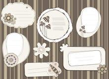Étiquettes de cadeau Images stock