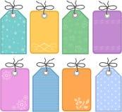 Étiquettes de cadeau image stock
