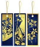 Étiquettes de cadeau avec la conception florale, vecteur Photographie stock