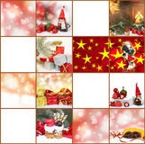 Étiquettes de cadeau, cartes de Noël Photos stock