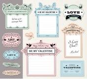 Étiquettes de cadeau d'amour Photos libres de droits