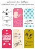 Étiquettes de cadeau d'amour Photos stock