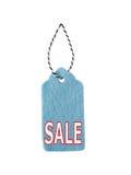 Étiquettes de cadeau, d'isolement sur le fond blanc Label de feutre de bleu Image stock
