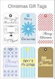 Étiquettes de cadeau de Chritmas Photo libre de droits