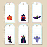 Étiquettes de cadeau de Halloween Photo libre de droits