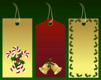 Étiquettes de cadeau de Noël Images libres de droits