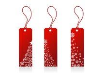 Étiquettes de cadeau de Noël Images stock