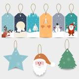 Étiquettes de cadeau de Noël Photo stock