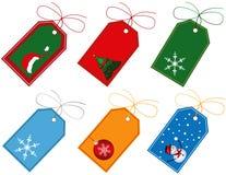 Étiquettes de cadeau de Noël Photographie stock libre de droits