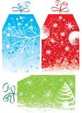Étiquettes de cadeau de Noël, illustration de vecteur illustration de vecteur