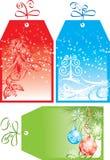 Étiquettes de cadeau de Noël, vecteur Photographie stock libre de droits