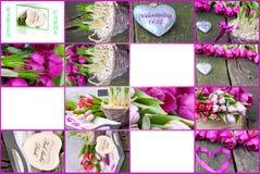 Étiquettes de cadeau pour la Saint-Valentin Photo libre de droits