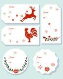 Étiquettes de cadeaux de Noël Photo stock