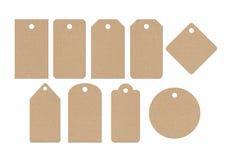 Étiquettes de carton Images libres de droits