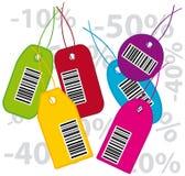 étiquettes de codes à barres Images libres de droits