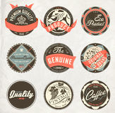 Étiquettes de conception de cru rétro Image libre de droits